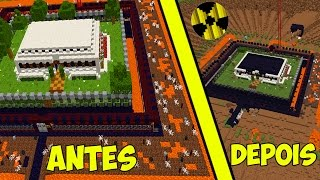 CASA ANTI-BOMBA INDESTRUTÍVEL NO MINECRAFT... (BUNKER MINECRAFT)