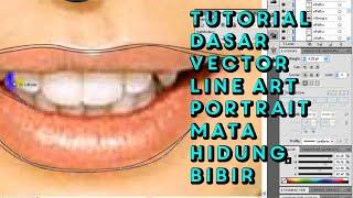 Tutor Line-Art mata, hidung dan bibir
