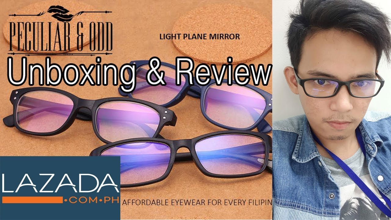32d7cbc55aea9 Peculiar and Odd Anti-radiation Eyeglasses Unboxing and Review ...