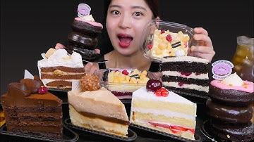 🍰Sweet chocolate cake😍 투썸에 있는 조각 케이크 모두 쓱싹!! [Chocolate cake, Cream cake, Donut cake] Mukbang😆