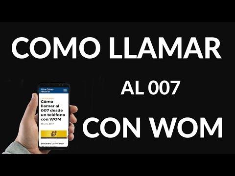 Cómo Llamar al 007 Desde un Teléfono con WOM