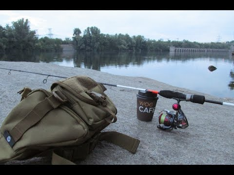 Рыбалка перед работой! Попытка обмана - голавль на бомбарду с тараканом! 11 серия Запорожье