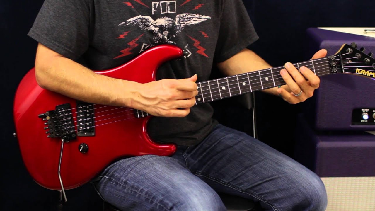 how to play sammy hagar heavy metal guitar lesson youtube