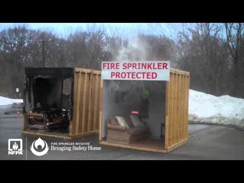 NFPA Fire Sprinkler Demonstration - Quincy MA 2015