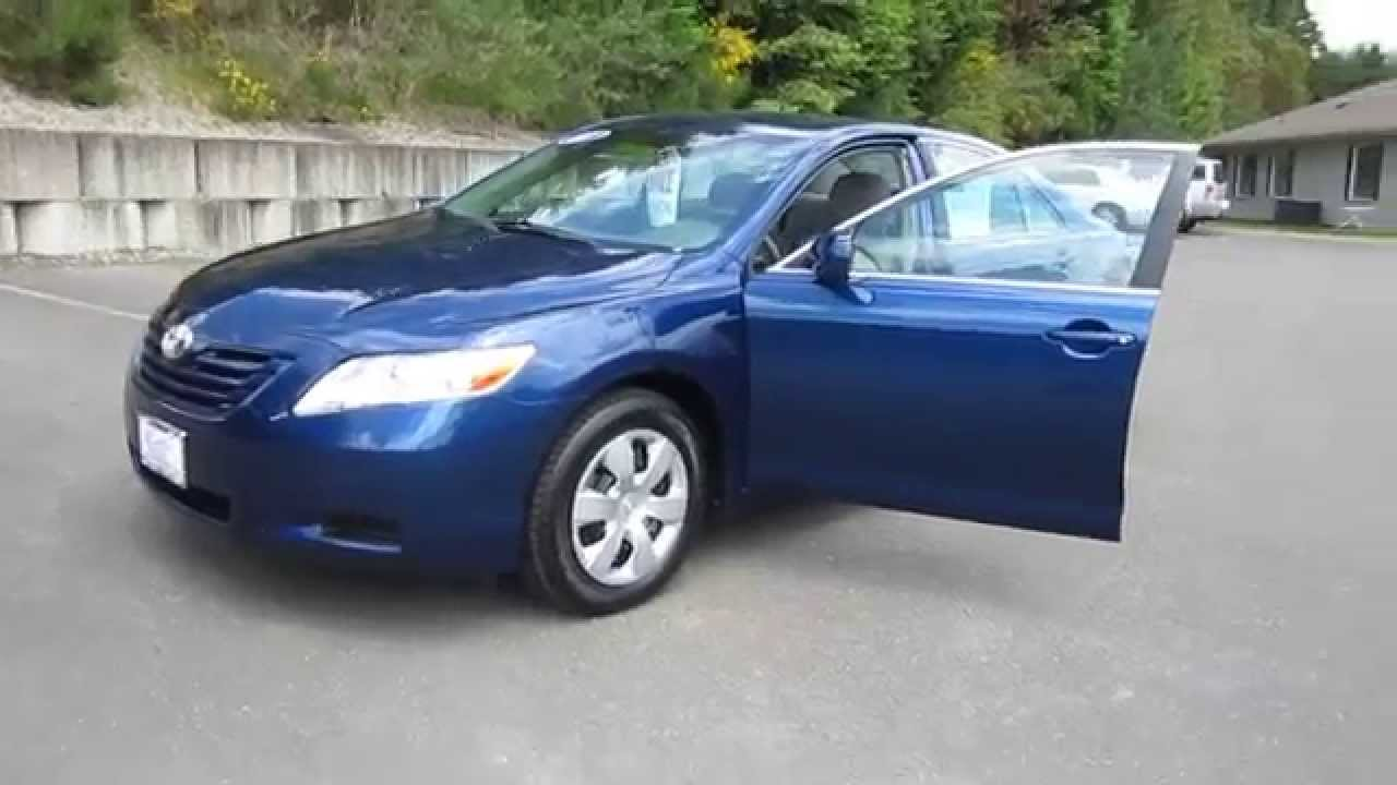 2007 Toyota Camry Dark Blue Metallic Stock B8654 Walk Around