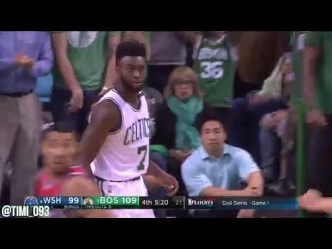 Boston Celtics Hit 19 Threes, Tie Franchise Playoff Record vs Washington Wizards (04/30/2017)