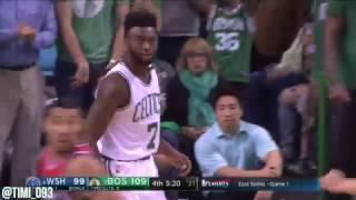 Boston Celtics Hit 19 Threes, Tie Franchise Playoff Record vs Washington Wizards (04/30/2017)
