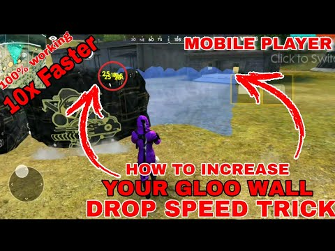 HOW TO INCREASE YOUR GLOO WALL DROP SPEED TRICK [ 10X FASTER ] MOBILE PLAYER || FREE FIRE