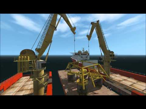 Vortex - Subsea tandem lift of template using two 100T knuckle boom cranes
