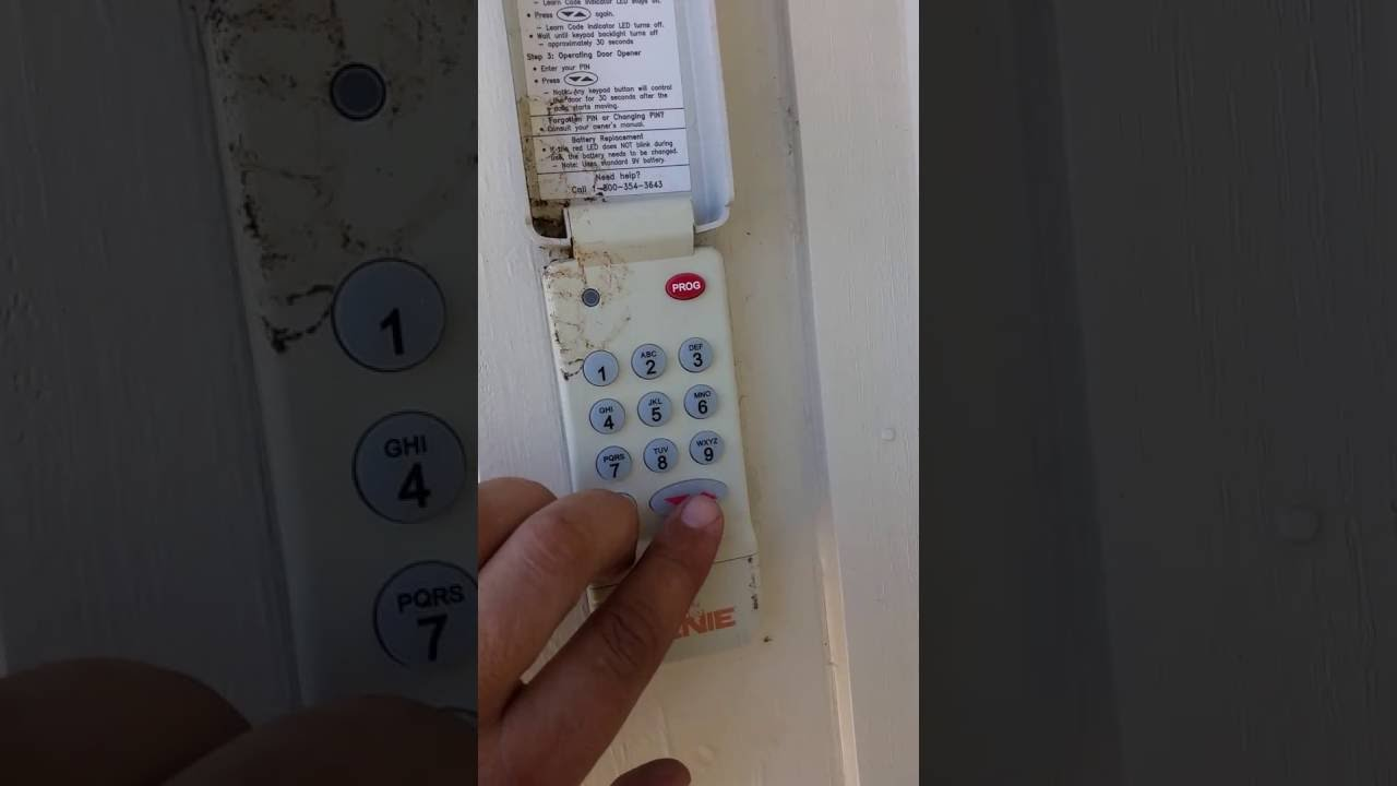 How To Erase Previous Code On A Genie Garage Door Opener