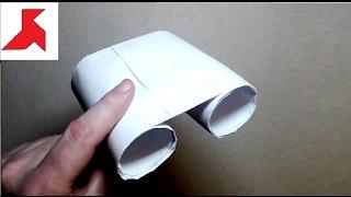 Как сделать детский БИНОКЛЬ из бумаги А4, своими руками?