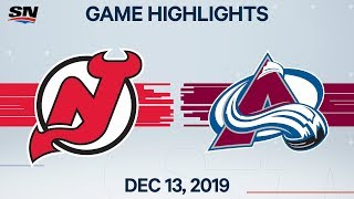 NHL Highlights | Devils vs Avalanche - Dec. 13, 2019