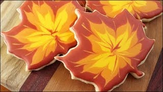 Fall Maple Leaf Sugar Cookies!