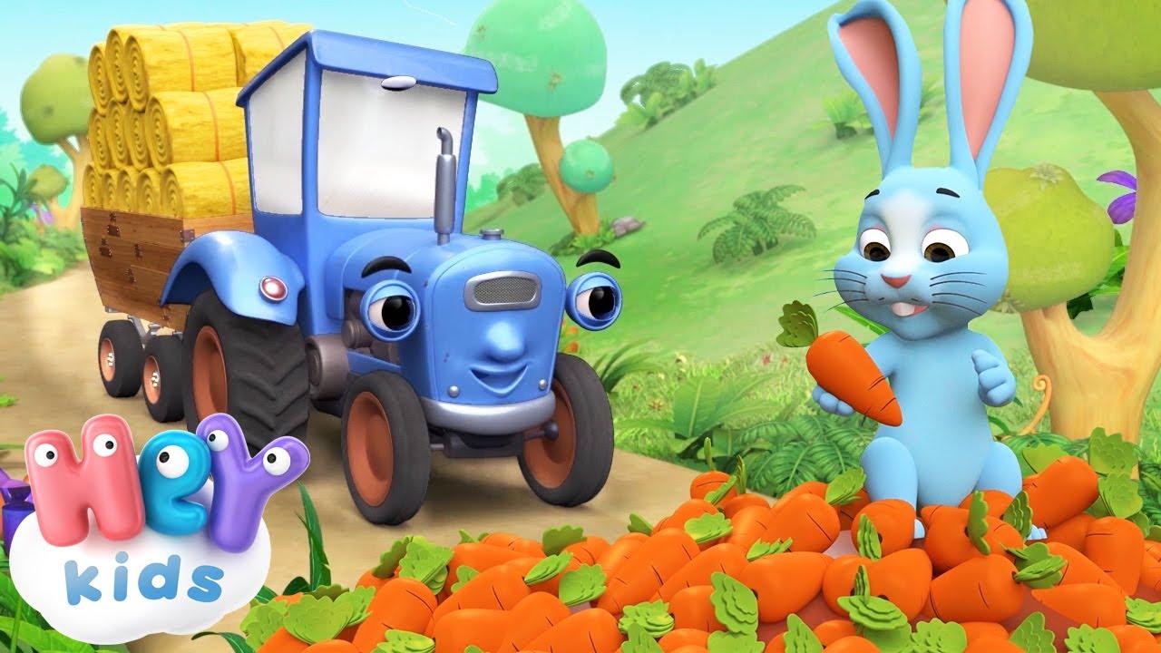 Le petit tracteur bleu 🚜 Dessin animé | HeyKids - Comptine bébé