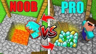 Minecraft Battle: SWAPPED HIDDEN TREASURE NOOB vs PRO in Minecraft Animations