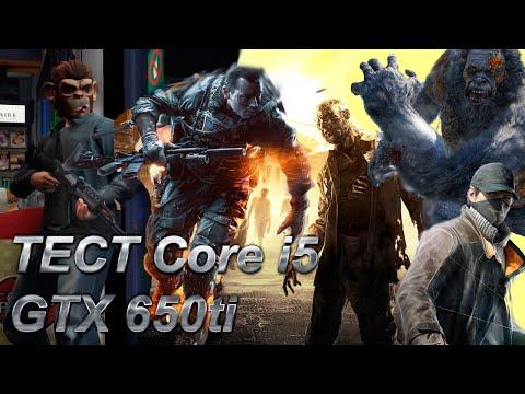 Тест нескольких игр Core i5 4460 GTX 650ti
