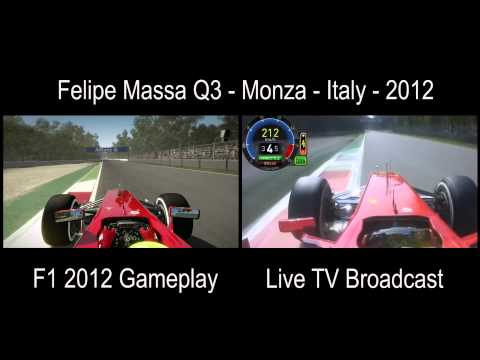FORMULA 1 Felipe Massa Q3 Monza, Italy - 2012 Split Screen: Live TV x Gameplay Codemasters