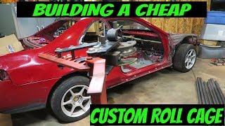 Crazy CHEAP racecar build // Custom roll cage fabrication. + RACE FOR FREE