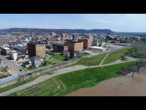 Portsmouth OH Aerial Drone sUAV video from OHIO River by ProAerialPics