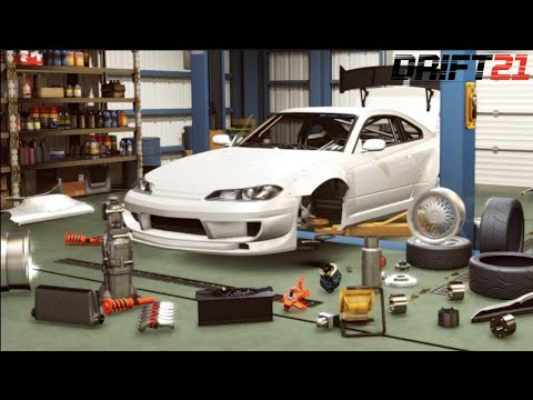 DRIFT21 - Nissan S15 90mm Spacer Wide-body Build + EASTER Eggs In Garage!! (CUSTOMIZATION)
