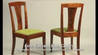 Custom Side Chair Handmade By Doucette And Wolfe Furniture Makers