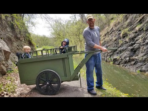 Hiking & Camping In 2 Man Camper Handcart With Bunk Beds - Ultimate Bug Out Cart