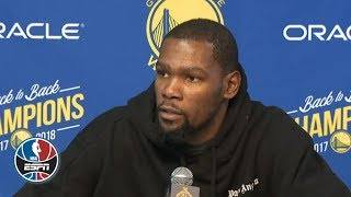 Kevin Durant on passing Larry Bird, Steve Kerr on Warriors' win | NBA on ESPN