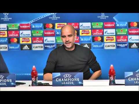 VIGILIA Manchester City-Napoli GUARDIOLA - STERLING CONFERENZA STAMPA #UCL 16/10/2017