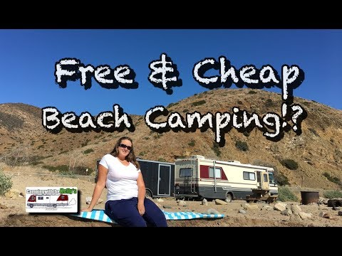 "AMAZING ""FREE"" & Cheap Beach Camping in California , Blown Header Gasket (RV living & travel vlog)"