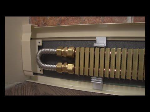 видео: Монтаж теплого плинтуса
