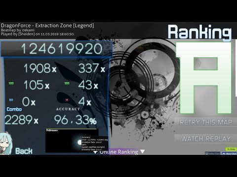 Osu Dragonforce Extraction Zone Legend 8 4xmiss 2289x 426pp Youtube