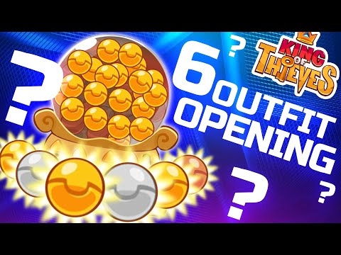 King of Thieves | 6 Gold - Bronze - Silver  Outfits Opening