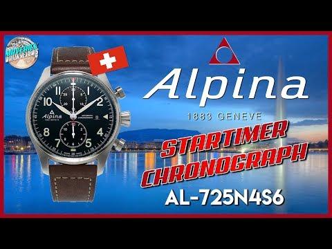 Pilot Watch Perfection? | Alpina Startimer 100m Automatic Chronograph AL-725N4S6 Unbox & Review