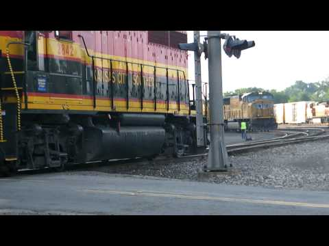 Kansas City Southern Local with Rail Switching Action!!!