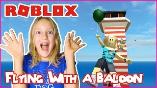 Flying with a Balloon / Roblox Natural Disasters Survival