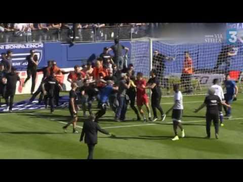 Ligue 1 – Le match Bastia-Lyon arrêté après des incidents