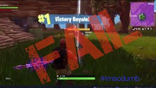 Fortnite - Failed to record my first victory 😢