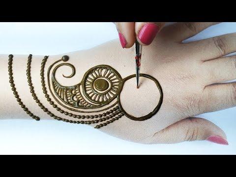 New Stylish Mehndi Design for hands- आसान शेडेड अरेबिक मेहँदी लगाना सीखे- 3 Number Mehndi Trick