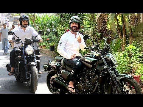 John Abraham Riding Sports Bike In Mumbai...