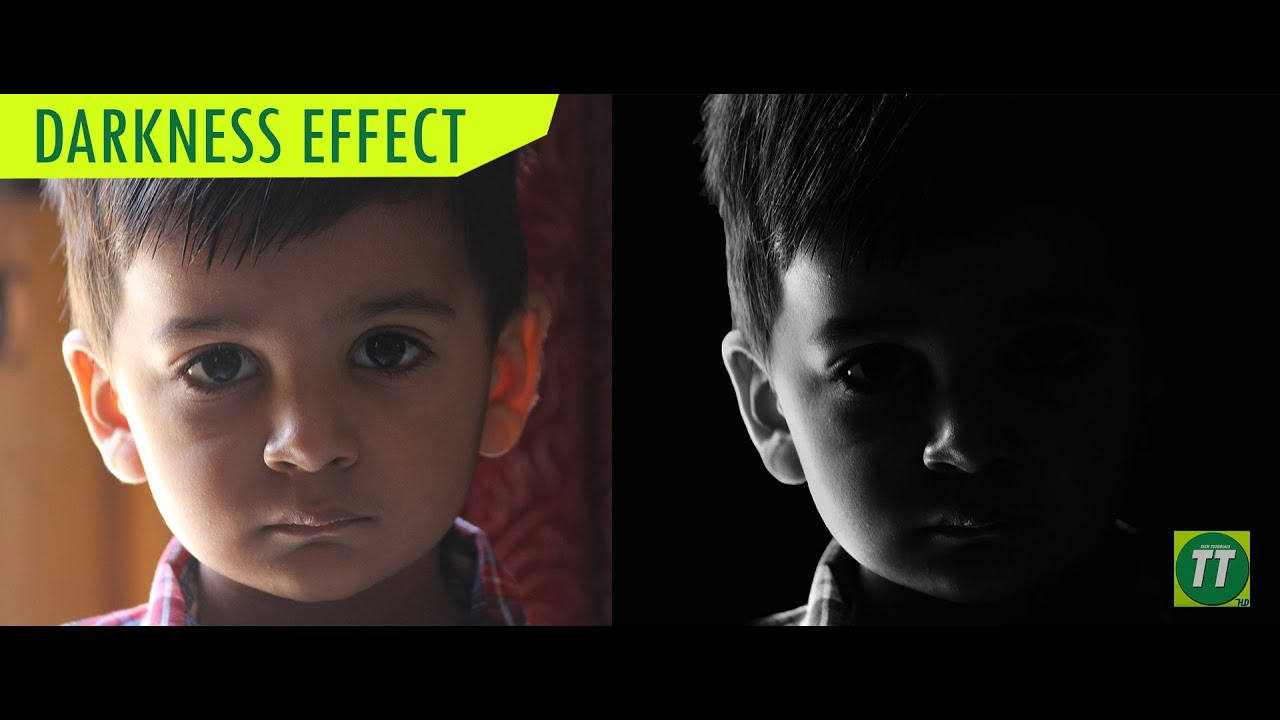 Photoshop tutorial darkness effect black white photo tech its youtube uninterrupted baditri Choice Image