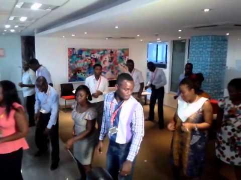 Usher Choreographs Vodafone Ghana Staff for Vodafone X Launch [Teaser]