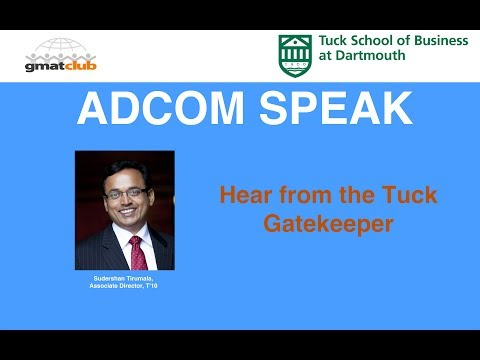 How to get into Tuck | AdcomSpeak