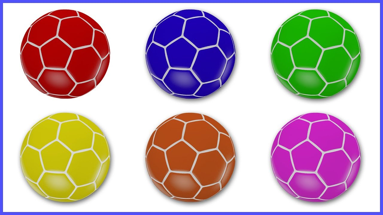 - Learn Colors With FIFA Soccer Balls Learning Colours With