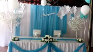 Кафе 'Бермуды'   Свадьба. Украшение зала.Летник