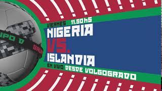 NIGERIA vs ISLANDIA, por Canal 10 en HD
