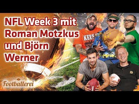 NFL Week 3 mit Roman Motzkus und Björn Werner  | Footballerei SHOW