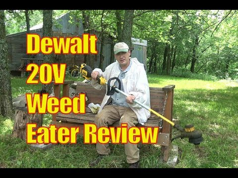 dewalt-20v-max-weed-eater-review:-lithium-battery-powered-string-trimmer-#dewalt