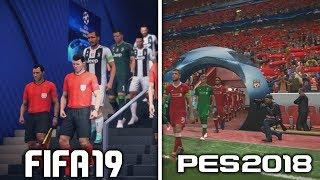 COMPARACIÓN CHAMPIONS LEAGUE | FIFA 19 vs PES 2018