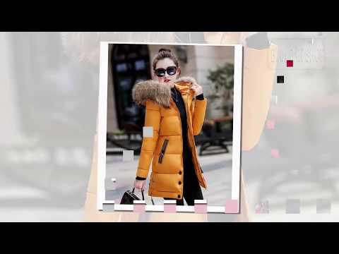 Áo Khoác Phao Nữ Lông Vũ Có Mũ Đẹp Kiểu Hàn Quốc