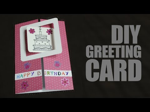 DIY Greeting Cards for Birthday - How to make birthday cards at home